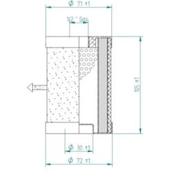 YV0395 Séparateur pour 1050090100